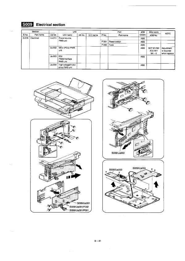 Xerox Copier XE60 62 80 82 84 Parts List and Service Manual